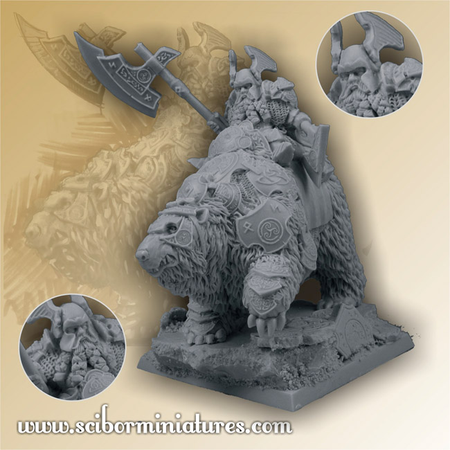 Scibor's Monstrous Miniatures Dwarf_general_on_war_bear_01