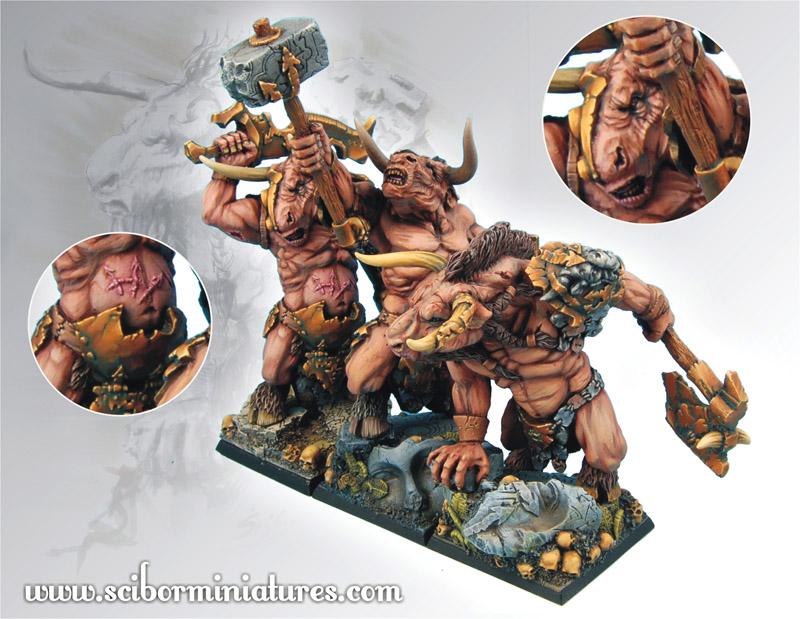 Scibor's Monstrous Miniatures Minotaurs_set_01