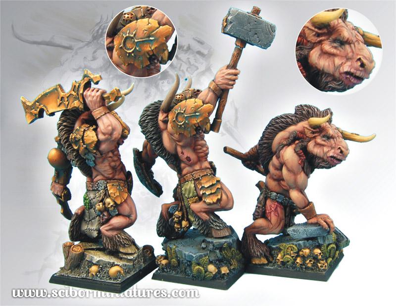 Scibor's Monstrous Miniatures Minotaurs_set_04