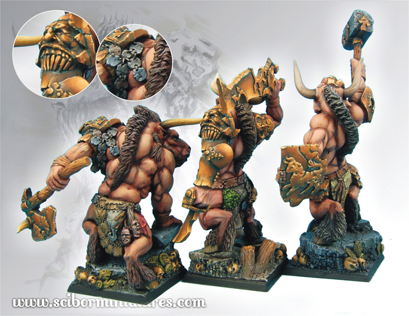 Scibor's Monstrous Miniatures Minotaurs_set_05