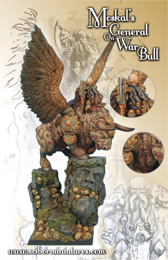 Scibor's Monstrous Miniatures War_bull_painted_01
