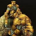 28mm/30mm Dwarf Warrior on War Bear #2 28FM0058