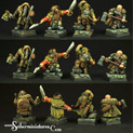 28mm/30mm Dwarves Rangers set 28FM0174