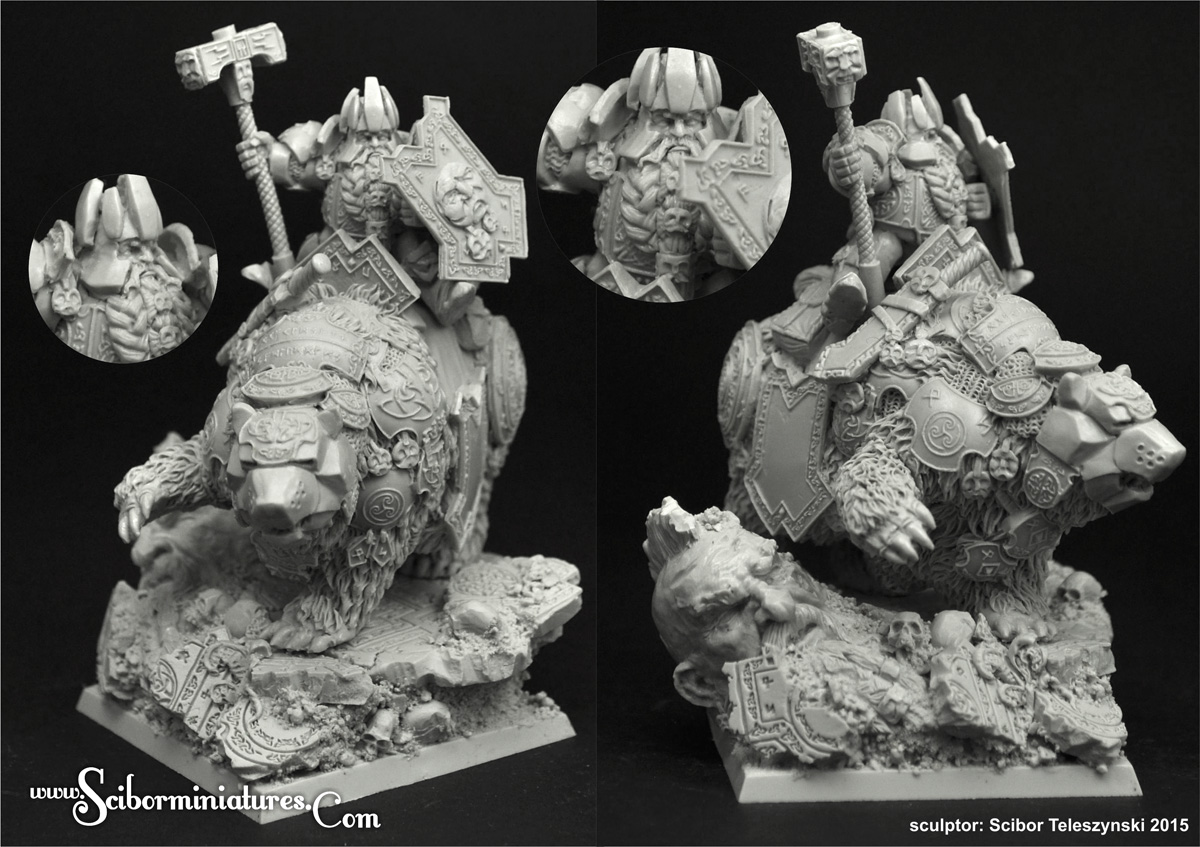 Nains abyssaux LeBigouden - Page 3 Thorin_dwarf_king_on_bear_01