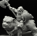 28mm/30mm Goblin Chief on Dog 28GB0018