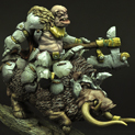 28mm/30mm Orc Chief on War Boar 28FM0191