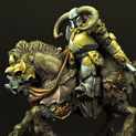 28mm/30mm Barbarian on Horse 28FM0243