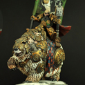 Dwarf General with Standard On War Bear 28FM0065